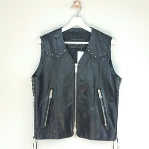 DSQUARED Other - DSQUARED2 biker studded leather vest w/ side laces