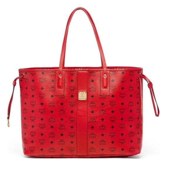 41 off mcm handbags mcm ruby red 39 large liz 39 reversible. Black Bedroom Furniture Sets. Home Design Ideas