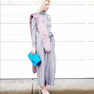 Perfect condition grey stripe jumpsuit