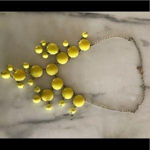 Yellow J.Crew bubble necklace