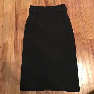 Eva Mendes High Waist Black Pencil Skirt