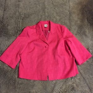 Chico's Sz 2.5 Hot Pink Jacket Career Summer Lined