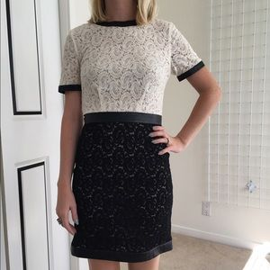 Great condition black white two Tone lace dress