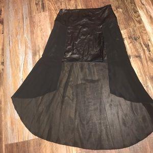 Dresses & Skirts - Unique mini skirt with sheer longer cover skirt