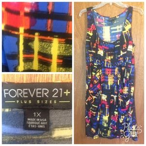 Forever 21 Dresses & Skirts - Cute sleeveless print dress by Forever 21 size 1X