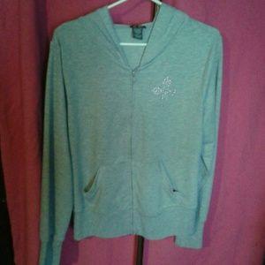 Dots Tops - Gray cross hoodie