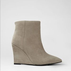 All Saints Shoes - NWOB All Saints Gray Monet Manifesto Wedge Booties