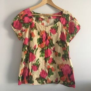 Art And Soul Tops - Boho floral peasant Art & Soul top