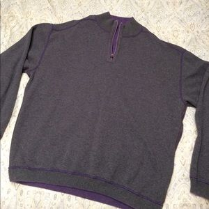 Tommy Bahama Other - Tommy Bahama grey/purple reversible 1/4 zip