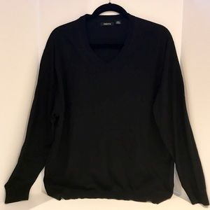 Claiborne Other - V-Neck Black Dress Sweater
