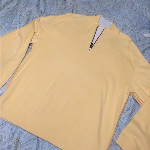 Tommy Bahama Other - Tommy Bahama yellow/cream reversible 1/4 zip