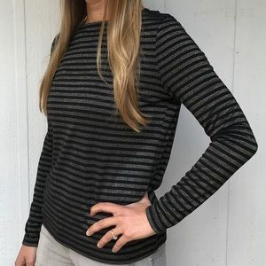 BB Dakota Tops - Black and gold top