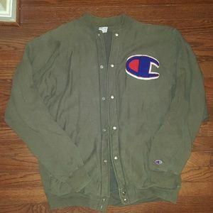 Vintage Champion logo varsity jacket