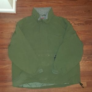 Eddie Bauer green pullover jacket coat