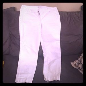 White, old navy pixie cut pants.