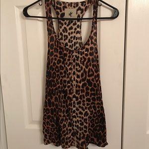 One Teaspoon pocket tank leopard cheetah print S