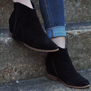 Shoes - Fringe Western Ankle Booties