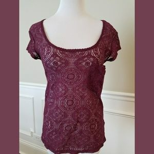 Urban Outfitters Tops - Kimchi Blue for Urban Outfitters Lace Tee SZ M