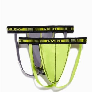 2xist Other - NWOT Men's 2(X)IST Jock Strap, Lead/Lime Punch, M