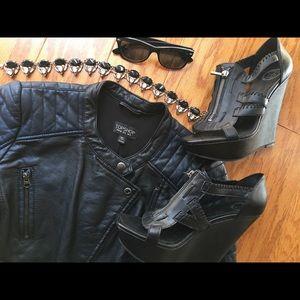 Topshop Jackets & Blazers - Topshop faux leather biker jacket