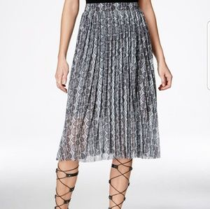 Rachel Roy snakeskin pleated skirt