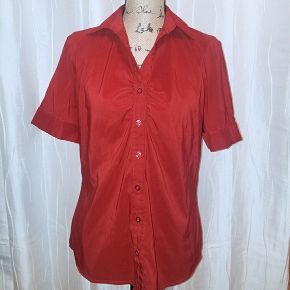 023c8a5e7 ICO Tops | Red Womens Buttonup Blouse | Poshmark