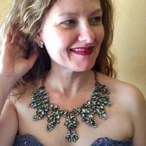 "B&B Jewelry - ""Pearl"" Abalone Crystal Statement Necklace"