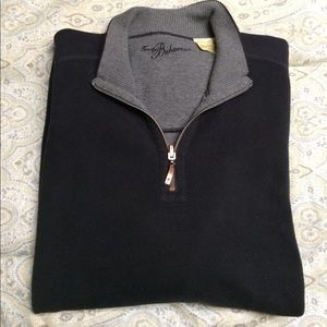 Tommy Bahama Other - Tommy Bahama grey/black reversible 1/4 zip sweater