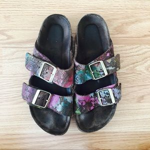SOLD Birkenstock Arizona Paint splatter Sandal