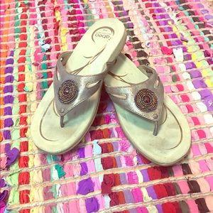 70 Off Abeo Shoes Abeo Sandal Leucadia Brown Reptile