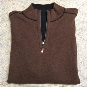 Tommy Bahama Other - Tommy Bahama brown/black reversible 1/4 zip