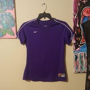 Purple Nike work out dri fit tee
