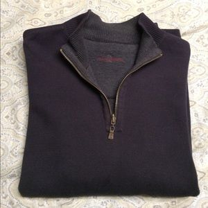 Tommy Bahama Other - Tommy Bahama navy/grey reversible 1/4 zip sweater