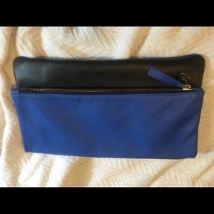 Clare Vivier Handbags - Clare V fold over clutch - royal blue and black