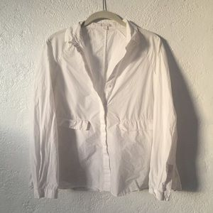 COS Tops - Cos White Boxy Button Down Top