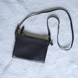 Old Navy Bags - Double zipper faux leather crossbody purse