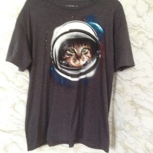 Hybrid Other - Astronaut Cat Grey T-Shirt