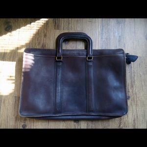 VINTAGE COACH LARGE BRIEFCASE Mahogany LEATHER