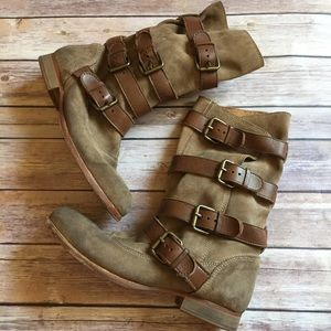 H By Hudson Shoes - H by Hudson leather buckle combat boots