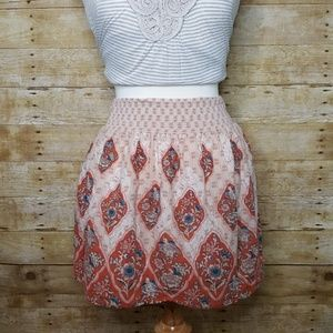 Ecote Dresses & Skirts - Ecote Boho Orange and Pink Skirt Size Medium