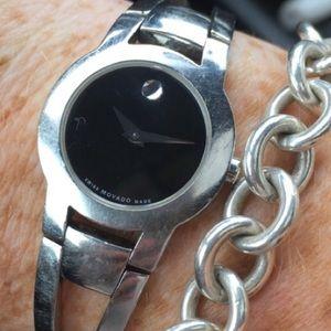 Movado Accessories - Ladies movado black face watch