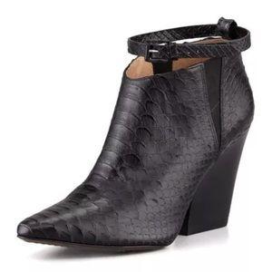 "Rebecca Minkoff Shoes - Rebecca Minkoff ""La Roux"" Snake-Print Ankle Boot."