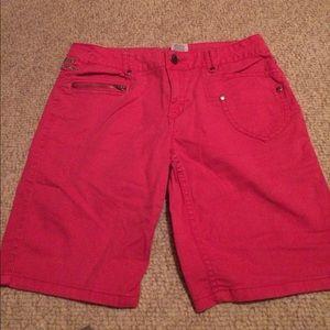 Disney Hannah Montana girl's pink jean shorts