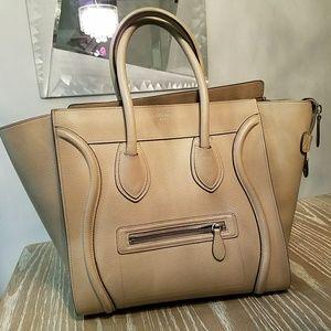 Celine Handbags - Celine Mini Luggage Drummed Calfskin