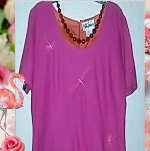 Vintage like A very nice fusha linen dress