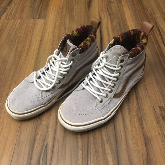 Grey Aztec High Top Vans. M 591a704ef0137ddbee032963 868589e64