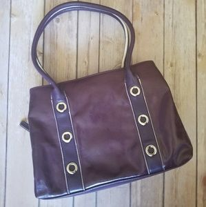 Aurielle Handbags - AURIELLE purple leather bag