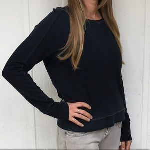 BB Dakota Tops - Dark blue sweatshirt