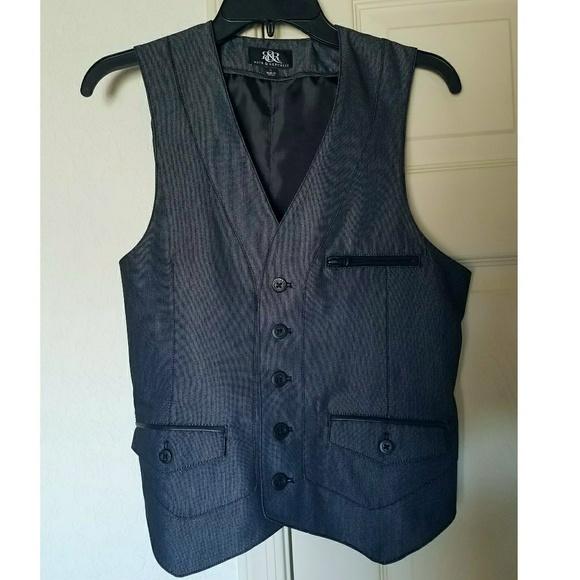Rock & Republic Jackets & Coats - Rock & Republic Grey Vest Waistcoat Small Mens S