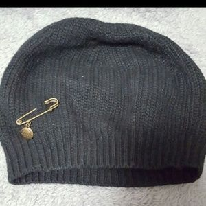 Black Coach knitted hat